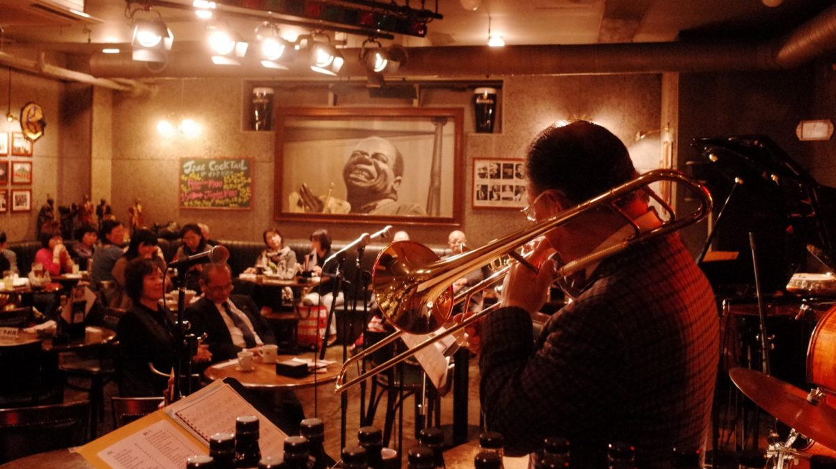 Hub Jazz club in Asakusa